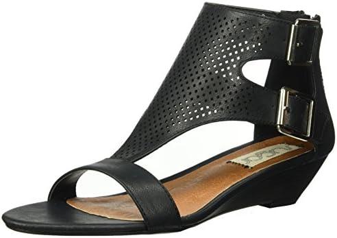 51133bd459c Sugar Women's Wigout Demi T-Bar Open Toe Buckle Wedge Sandal, Black ...