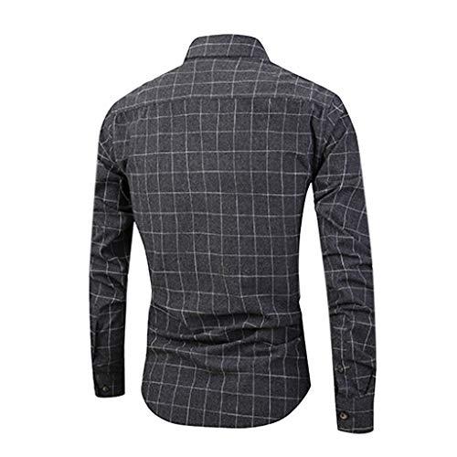Blanche Garçon Noir6 Plaid shirt Coton Chemise Gilet Vest Pas Homme Ado T A Mode À Tee Bande Manche Sweat Cher Longue Vetement Top La CgnRUPC