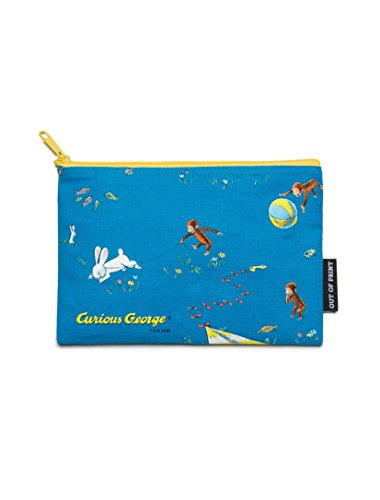 Out of Print Curious George Pouch Turquoise