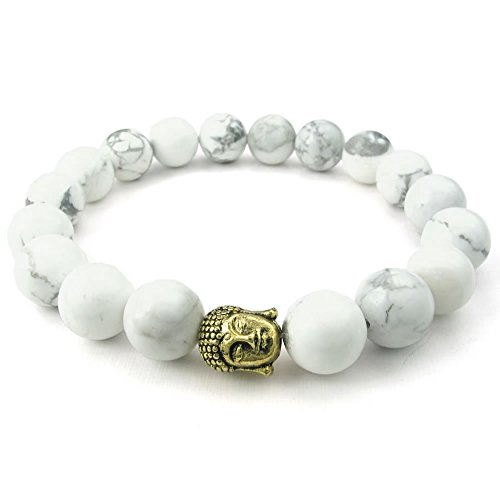 KONOV Howlite Turquoise Womens Bracelet