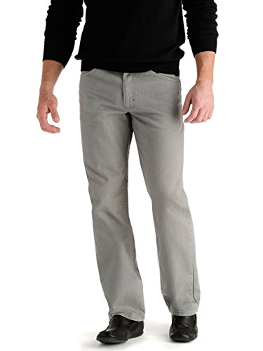 - Lee Men's Regular Fit Straight Leg Jeans - Battleship, Battleship, 32X30