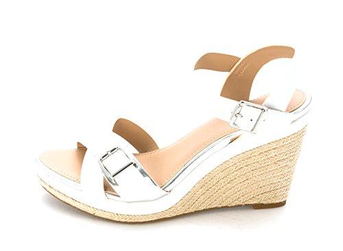 Alfani - Sandalias de vestir para mujer blanco / plateado