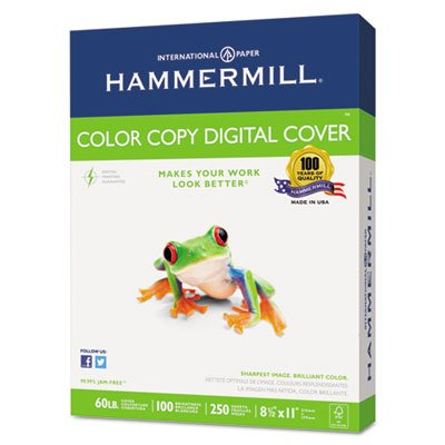 Copier Digital Cover Stock, 60 lbs., 8 1/2 x 11, Photo White, 250 Sheets, Total 10 PK, Sold as 1 Carton