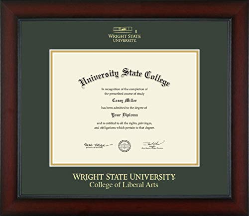 Wright State University College of Liberal Arts - Officially Licensed - Gold Embossed Diploma Frame - Diploma Size 11