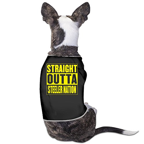 YRROWN Straight Outta Steeler Nation Puppy Dog Clothes - Virginia Halloween Costume