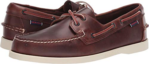 (Sebago Men's, Dockside Portland Boat Shoe Brown Waxy 11.5 M)