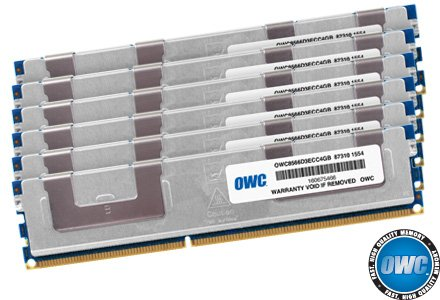 (OWC 24.0GB (6 x 4GB) PC8500 DDR3 ECC 1066 MHz 240 pin DIMM Memory Upgrade Kit For 2009 Mac Pro and Xserve)