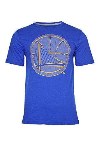 NBA Golden State Warriors Men's T-Shirt Brushed Reflective Logo Tee Shirt, Large, Royal