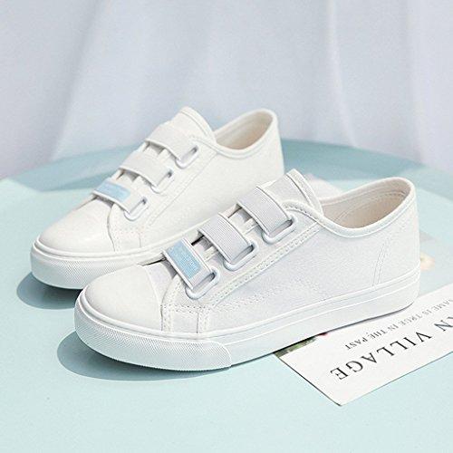 de de Chaussures de Toile Chaussures roulettes de Respirable Sports Plates Occasionnels des Blanc à élastique Ceinture Femmes Chaussures Planche ABpYpqPFw