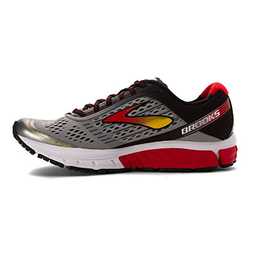 Brooks Men's Ghost 9 Running Shoes Alloy/High Risk Red/Black quality from china wholesale buy cheap discount MjHiOkw