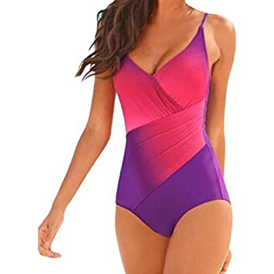 Kshion Women's Swimwear One Piece Swimsuit Push Up Bikini Bathing Suit (M, Green)