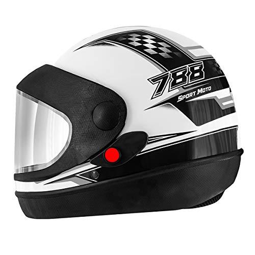 Pro Tork Capacete Super Sport Moto 56 multicor (Branco/Cinza/Preto)