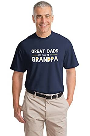 Great Dads get promoted to Grandpa! | Funny Grandfather Humor Unisex T-shirt-Adult,M