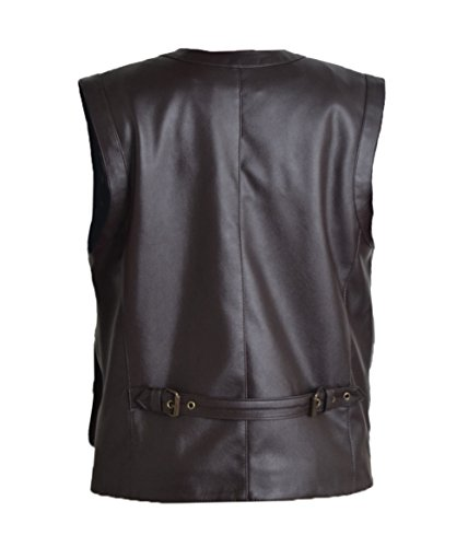 HLS Jurrasic Park Vest FAUX Leather Vest XXS-5XL Brown