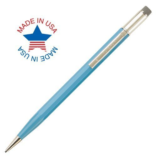 Autopoint® All-American® Pencil, 1.1mm tip, Paneled Barrel, Light Blue, American Made (60010LB)