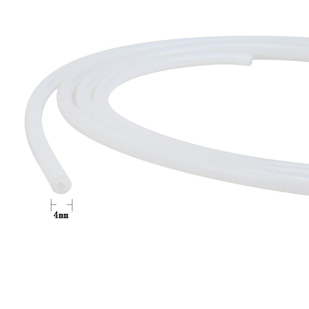 HUICAO Teflon PTFE Tube OD 4mm ID 2mm for Chemical Electrical Medical Equipment (13.12-feet-Long)