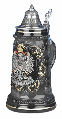 Beer Stein pewter Deutschland eagle Stein 0.5 liter tankard, beer mug by KING