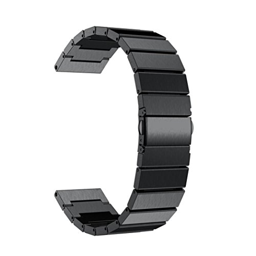 Price comparison product image Alonea NEW Metal Stainless Steel Watch Band Strap For Garmin Fenix 5S (Black)