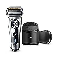 Maquinilla de afeitar eléctrica de Braun, afeitadora eléctrica de afeitar /afeitadora eléctrica de la serie 9 9290cc para hombres, húmedo y seco, estuche de viaje con sistema de carga y limpieza