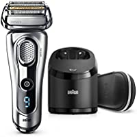 Braun Electric Shaver, Series 9 9290cc Men's Electric Razor/Electric Foil Shaver, Wet & Dry, Travel Case with Clean & Charge System