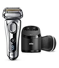 The Braun Series 9 is our best electric shaver with 5 synchronized shaving elements, world's strongest Sonic technology and an intelligent AutoSensing motor to shave more hair in one stroke than any other shaver. A 100% waterproof electric ra...
