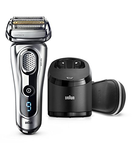 Braun Series 9 9290cc Electric Razor for Men, Rechargeable and Cordless Electric Shaver, Foil Shaver, Silver, with Clean&Charge Station and Travel Case ()