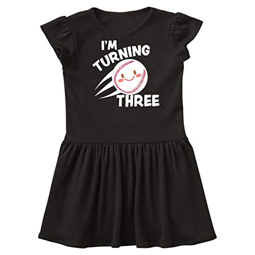 inktastic - I'm Turning Three with Baseball Toddler Dress 4T Black 341b3]()