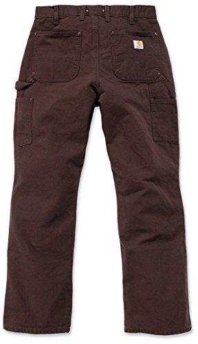 Brown Carhartt brn Lavoro l30 front Salopette W28 Marrone Dark eb136 s377 Carhartt Anatra nbsp;lavaggio Double wRgAa1wq6