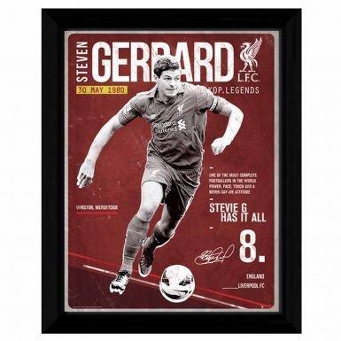 Steven Gerrard Liverpool (Steven Gerrard & Liverpool FC Framed Print)