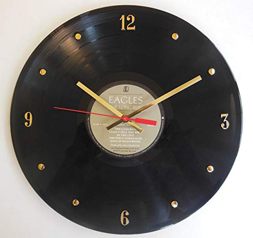 American Eagle Clock - Eagles Vinyl Record Clock (The Long Run). Handmade 12
