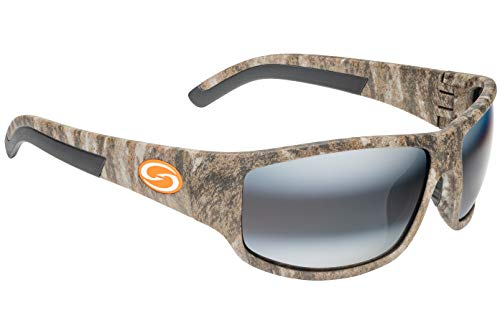 (Strike King S11 Caddo Polarized Sunglasses, UVA/UVB Protection, Mossy Oak Frame, Dark Amber Brown/Amber Lens)