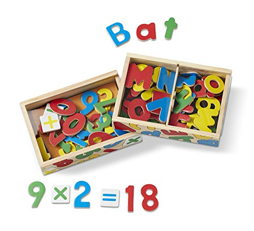 (Melissa & Doug Deluxe Magnetic Letters and Numbers Set With 89 Wooden)