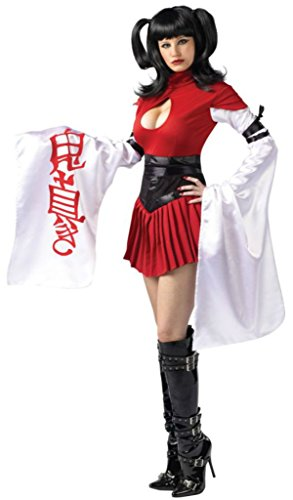 [Funworld Womens Asian Samurai Japanese Geisha Chinese Sexy Adults Fancy Costume, M/L (10-14)] (Sexy Geisha Costumes)