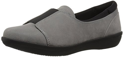 Clarks Women's Ayla Band Loafer Grey Synthetic R44rgbf