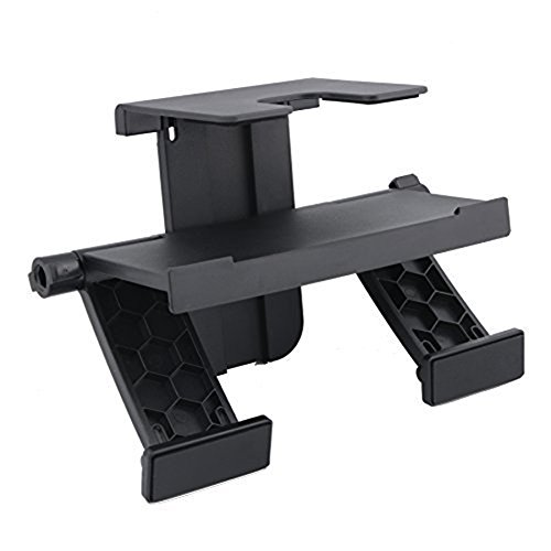 CJRSLRB(TM) Unique and Steady TV Mounting Clip Stand for PS3 EYE Camera, PS4 Camera, XBOX 360 KINECT Camera, XBOX ONE KINECT Camera, WII Sensor Bar or WII U Sensor Bar Camera Mount- Black