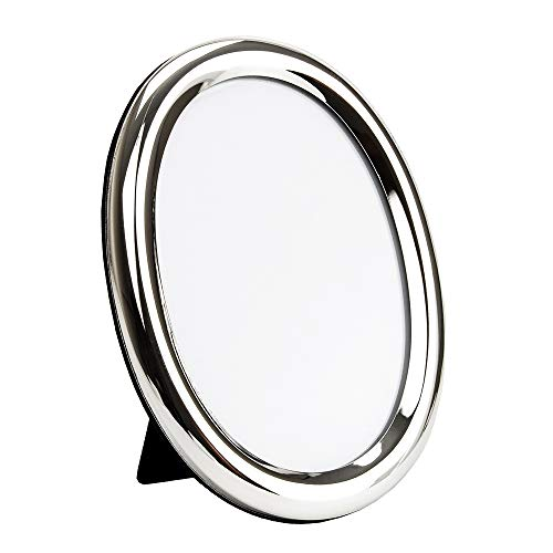 Happy Homewares Traditional Oval Silver Plated 5