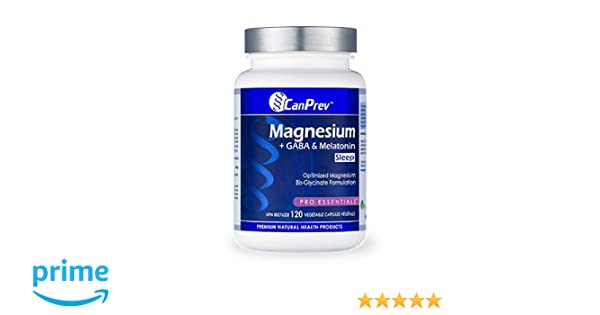 Amazon.com: CanPrev Magnesium + GABA & Melatonin for Sleep, 120 vegicaps: Health & Personal Care