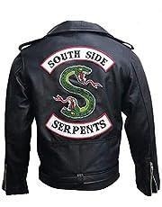 Mannen Riverdale Southside Serpents Snake Jughead Jones Biker Faux Lederen Jas