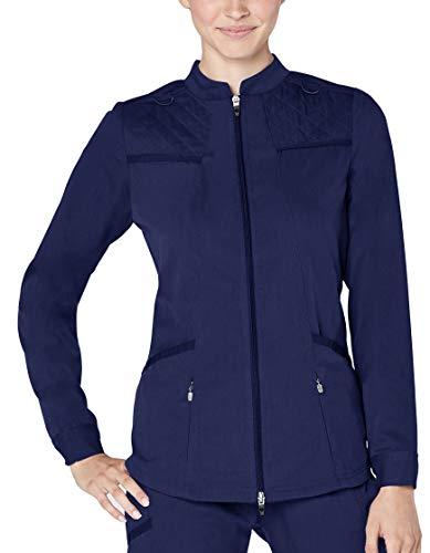 Adar Responsive Scrubs for Women - Warm Up Scrub Jacket - R6202 - Rich Navy - 2X (Up Warm Coat Pants)