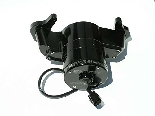 Meziere WP135S Black Billet Electric Water Pump for Oldsmobile