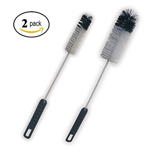 Utility Glass Bottle Cleaning Brush Set Long Handle Thin Small and Big Water Pipes Brush Cleaner Tool Set Value Kit Pack of 2