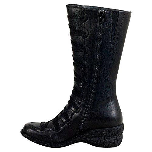 Miz Otis Mid Women's Boot Black Calf Mooz wr6Pqw