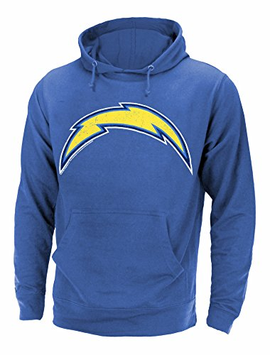 San Diego Chargers NFL Men's Primary Logo Pullover French Terry Hoodie, Royal Heather – DiZiSports Store