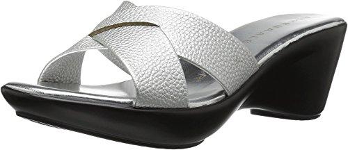 Athena Alexander Women's Verna Slide Sandal, Silver, 11 M US