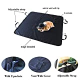JK JI KAI Pet Seat Covers for Car and SUV-PCR A05 60X64 (2018 Hammock Auto Seat Covers Back Seat Set for Pets, Trucks, SUV, Car,Back Seat,F150 Including 4 Adjustable Straps,2 Pockets