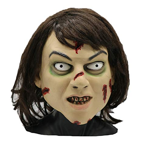 Mokna The Exorcist Regan Mask Adult Full Face Cosplay Halloween Party Props (Style_Regan)