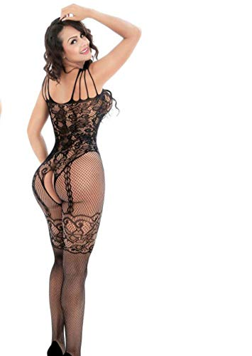 QJXSAN Women's Floral Lace Transparent Seamless Tights Underwear Fishnet Open Sexy Lingerie (Excluding T Pants) ()