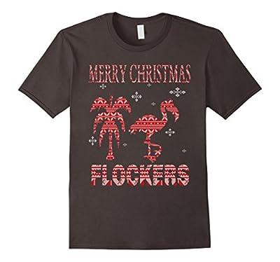 Merry Christmas Flockers Funny Christmas Flamingo T-Shirt