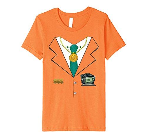 [Kids Billionaire Halloween Costume Premium T-shirt - Millionaire 4 Orange] (Billionaire Boy Costume)