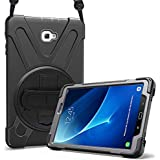 ProCase Samsung Galaxy Tab A 10.1 Case, Rugged Heavy Duty Shockproof Rotating Kickstand Protective Cover Case for Galaxy Tab A 10.1 Inch Tablet SM-T580 T585 T587 -Black